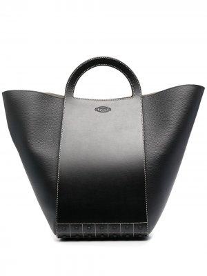 Tods большая сумка-тоут Gommini Tod's. Цвет: черный
