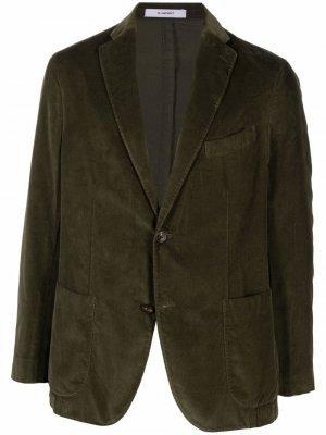 Бархатный пиджак Boglioli. Цвет: зеленый