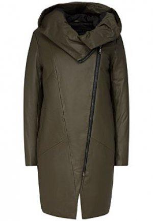 Утепленное кожаное пальто Vericci