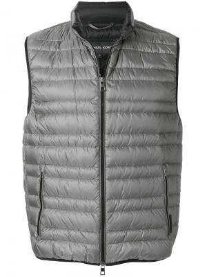 Пуховый жилет Michael Kors Collection. Цвет: серый