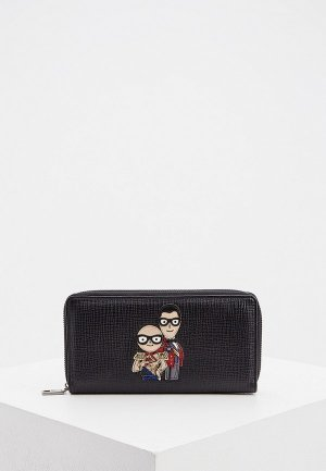 Кошелек Dolce&Gabbana. Цвет: черный