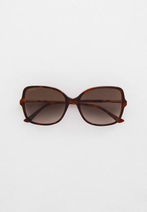 Очки солнцезащитные Jimmy Choo JUDY/S 0T4. Цвет: коричневый