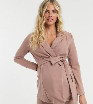 Розовый пиджак с запахом ASOS DESIGN Maternity-Розовый цвет Maternity