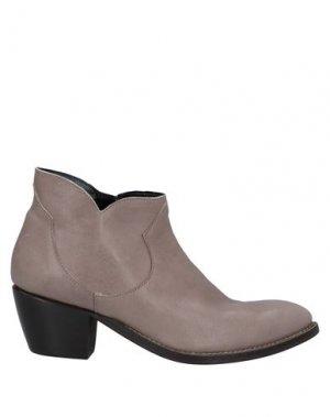 Полусапоги и высокие ботинки ÂME. Цвет: голубиный серый