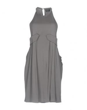 Короткое платье HALSTON. Цвет: серый