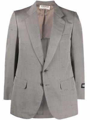 Полосатый пиджак 1970-х годов A.N.G.E.L.O. Vintage Cult. Цвет: серый