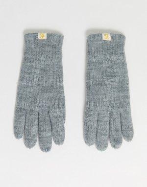 Серые перчатки на подкладке -Серый Farah