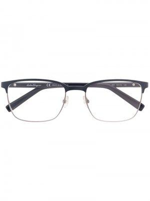 Очки в комбинированной оправе Salvatore Ferragamo Eyewear