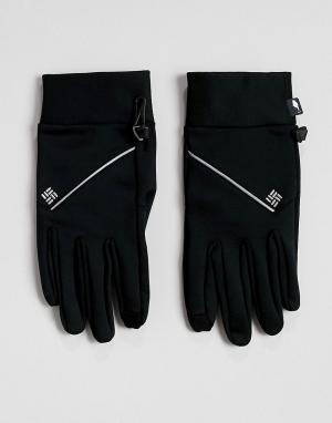 Черные беговые перчатки Trail Summit Columbia. Цвет: черный