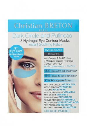 Патчи для глаз Christian Breton Paris против отеков и кругов, 3 шт. Цвет: прозрачный