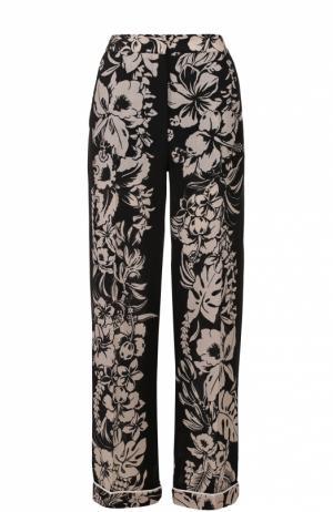 Брюки в пижамном стиле с контрастным принтом Valentino. Цвет: черный