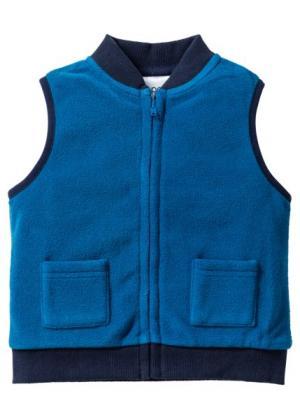 Для малышей: флисовый жилет + флисовые брюки (2 изд.) (синий/темно-синий) bonprix. Цвет: синий/темно-синий