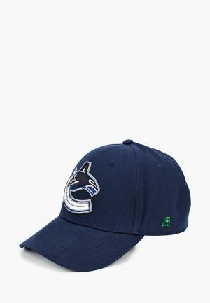 Бейсболка Atributika & Club™ NHL Vancouver Canucks. Цвет: синий