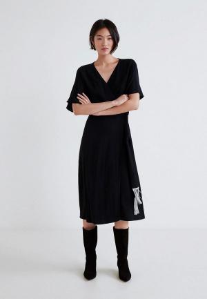 Платье Mango - CAREY. Цвет: черный