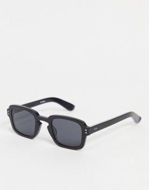Черные квадратные солнцезащитные очки в стиле унисекс Cut Fifteen-Черный Spitfire