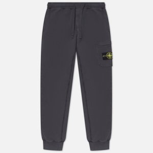 Мужские брюки Brushed Cotton Fleece Slim Fit Stone Island. Цвет: серый