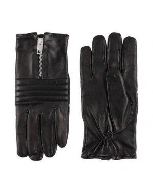 Перчатки DIESEL. Цвет: черный