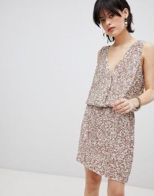 Платье с пайетками Horus-Розовый Deby Debo