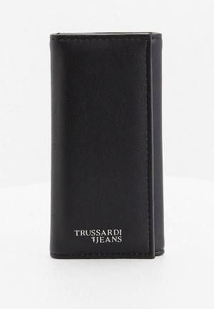 Ключница Trussardi Jeans. Цвет: черный