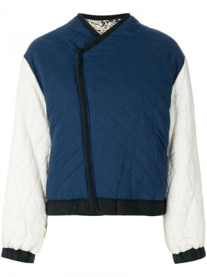 Куртка-бомбер с принтом Haphir Isabel Marant Étoile. Цвет: синий