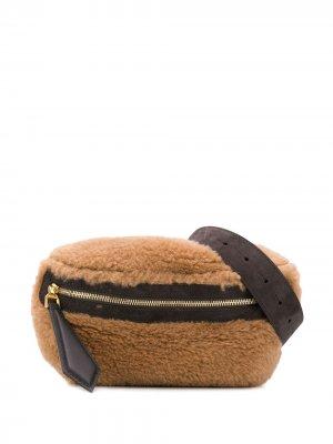 Поясная сумка Teddy Max Mara. Цвет: коричневый