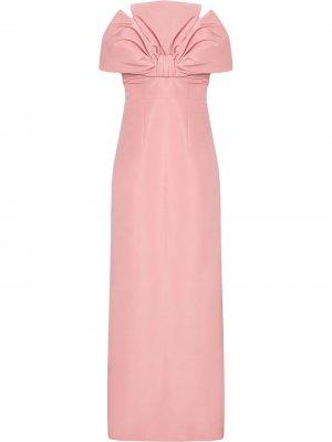 Приталенное вечернее платье Carolina Herrera. Цвет: розовый