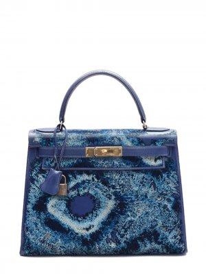 Pristine, Kelly 28cm, Tie Dye, Deep Blue, Leather Box , GHW - Final Sale Jay Ahr. Цвет: blue