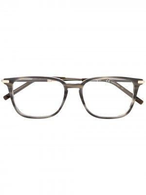 Очки в квадратной оправе с принтом Salvatore Ferragamo. Цвет: серый
