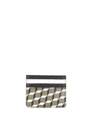 Картхолдер с принтом Perspective Cube Pierre Hardy. Цвет: зеленый