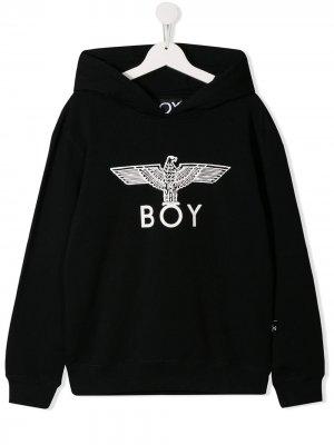 Худи с принтом Eagle Boy London Kids. Цвет: черный
