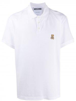 Рубашка поло Teddy Moschino. Цвет: белый