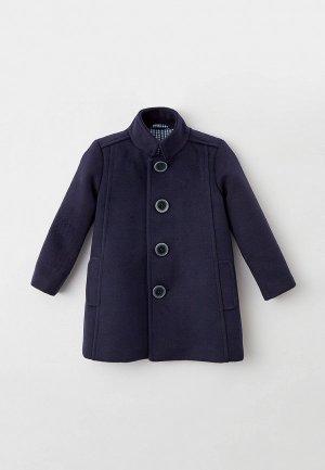 Пальто Ete Children. Цвет: синий