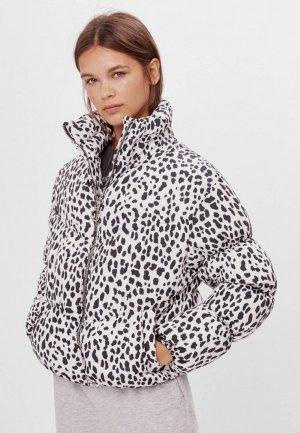 Куртка кожаная Bershka. Цвет: белый