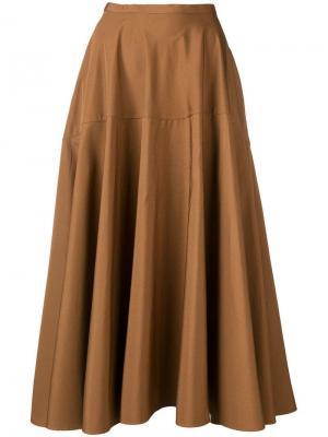 Расклешенная юбка миди Aspesi. Цвет: коричневый