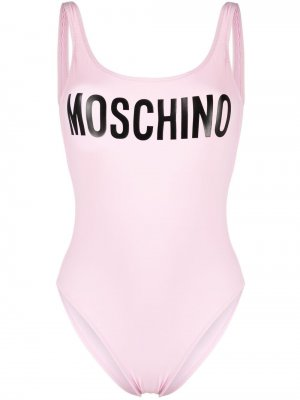 Купальник с логотипом Moschino. Цвет: розовый