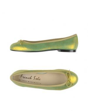 Балетки FRENCH SOLE. Цвет: кислотно-зеленый