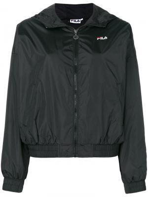 Куртка-бомбер на молнии Fila. Цвет: черный