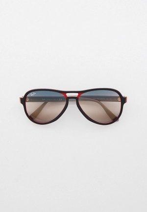 Очки солнцезащитные Ray-Ban® RB4355 6549GE. Цвет: черный
