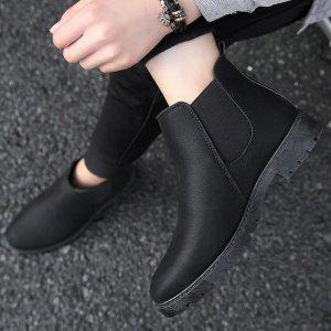 Мужские ботинки челси SHEIN. Цвет: чёрный