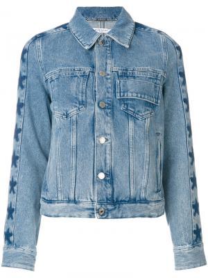 Джинсовая куртка со звездами Givenchy. Цвет: синий