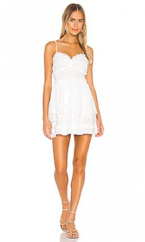 Мини платье campbell NBD. Цвет: белый