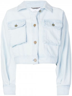 Укороченная джинсовая куртка Alberta Ferretti. Цвет: синий
