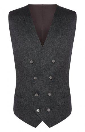 Кашемировый жилет Dolce & Gabbana. Цвет: серый