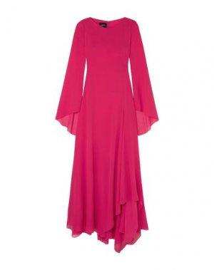 Длинное платье AKRIS. Цвет: фуксия