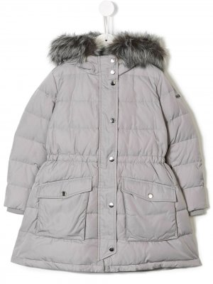 Пальто-пуховик Emporio Armani Kids. Цвет: серый