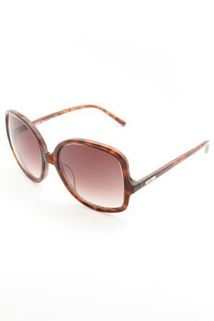 Очки солнцезащитные Moschino. Цвет: none
