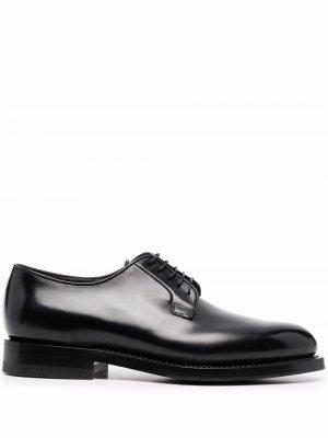 Туфли дерби на шнуровке Santoni. Цвет: черный