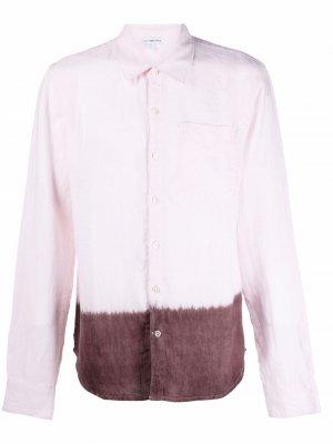 Рубашка с длинными рукавами и эффектом деграде James Perse. Цвет: розовый