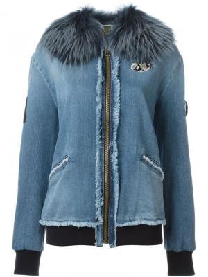 Декорированная джинсовая куртка Mr & Mrs Italy. Цвет: синий