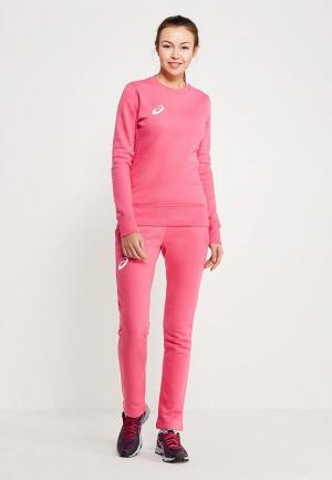 Костюм спортивный ASICS WOMAN FLEECE SUIT. Цвет: розовый